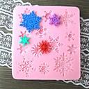 Snowflake Shaped Bake fandant mold,L9.5cm*W8.8cm*H1cm