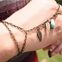 personalidade da moda das mulheres deixa turquesa conectam pulseiras cadeia dedos