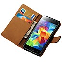 Genuine Leather Case for Samsung Galaxy S5 Mini G800 Wallet Style
