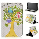 Tree Owls Pattern PU Leather Full Body Case with Stand Tab 3 Lite T110