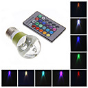 MLSLED 3W 1 High Power LED 130-160 LM RGB Remote-Controlled LED Globe Bulbs AC 220-240 V