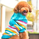 Dog / Cat Sweater Red / Blue Winter Stripe