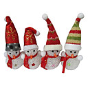 Christmas Snowman EVA Crystal Color-changing Night Light