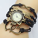 Buy Women's Watch Flower Dial Heart Infinity Leather Weave Band Cool Watches Unique Fashion