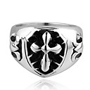 Classic Cross Shape Men's Statement Ring(1 Pc)