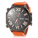 Men's Watch Military Style Big Roman Numerals Dial Leather Band