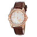 Buy Women's Diamante Round Dial PU Band Quartz Analog Casual Watch (Assorted Colors) Cool Watches Unique