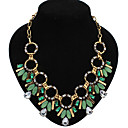 Eourpean Style Rhinestone Geometry Statement Necklace