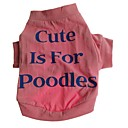 Dog Shirt / T-Shirt / Clothes/Clothing Red Winter Letter & Number Cosplay