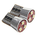 T10 2.5W 3x2323 SMD 110-150ML White Light LED Bulbs for License Plate Lamp(DC12V 2pcs)