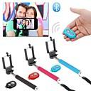 Selfie uitschuifbare camera handheld monopod met mobiele telefoon houder en bluetooth afstandsbediening sluiter voor de iPhone