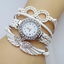 Women's Watch Crystal Wing Infinity Leather Weave Band