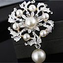 Fashion Hit Silver Alloy Rhinestone Brooches(1 Pc)