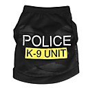 Dog / Cat Shirt / T-Shirt Black Spring/Fall Letter & Number / Police/Military Fashion