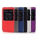 effen kleur pu lederen tas met het bekijken van het scherm voor de Samsung Galaxy Note 4 (verschillende kleuren)