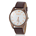 Men's Casual Dial PU Band Quartz Wrist Watch (Assorted Colors)