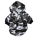 Snow Camouflage Pattern Fleeces Hoodies T-Shirt for Dogs