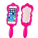 Novelty Barbie Capsule Collection Mirror Silicone Rubber Back Cover for iPhone 4/4S(Assorted Colors)