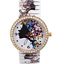 Women's  Fashion Personality Simple Fancy Style Metal Spring Band Wrist Watch