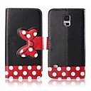 Red Bowknot Pattern PU Leather Case with Card Slot for Samsung Galaxy S5 I9600
