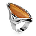 Fashion Grain Shape Coffee Statement Ring(1 Pc)
