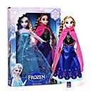 Sparkle Princess Elsa and Anna Vocal Olaf Snowman Doll (2pcs 14