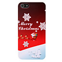 Merry Christmas Pattern PC Back Cover for iPhone 5/5S