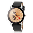 Buy Women's Cat Pattern Quartz PU Band Analog Fashion Watch (Assorted Colors) Cool Watches Unique
