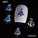 10pcs Beauty Xmas Tree 3D Alloy Nail Rhinestone DIY Nail Art Decoration