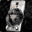 Buy Luxury Fashion Real Rex Rabbit Fur 3D Crystal Diamond Fox Bling Case Samsung Galaxy Note 4 IV N9100