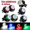 6PCS Instrument Panel Dashboard Light Bulb DC12V 0.2W T10 6LED 1210SMD Green Blue Red White+ 6PCS Socket