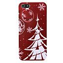 bianco albero di Natale modello pc copertura posteriore per il iphone 5 / 5s