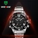 cadran rond en acier plein de bande de montre mouvement miyota 30 mètres les hommes weide® montre-bracelet étanche (couleurs assorties)
