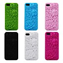 3D Rose Pattern Silicon Rubber Soft Case for iPhone 5/5s(Assorted Colors)