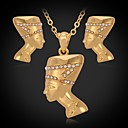Buy Jewelry Set Imitation Diamond Rhinestone Platinum Plated Gold Simulated Silver Golden setWedding Party Daily