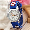Children's Sports Style Football Silicone Strap Quartz Wrist Watch Blue (1Pc)