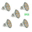 5 pcs JUXIANG GU4 5 W 12 SMD 5730 560 LM Warm White/Cool White MR11 Decorative Spot Lights DC 12 V