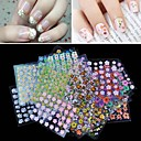 50PCS Mixs Style Conventional 3D Flower Design Nail Art Stickers