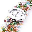 Women's Analog Plastics Beads Strap Design Round Dial Style Quartz Watch(Assorted Colors)