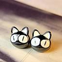 น่ารักตาโตอุปถัมภ์แมวขนาดเล็กตั๊ด earrings นักบุญ