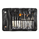12 Makeup Brushes Set Goat Hair / Pony Wood Face / Lip / Eye Others