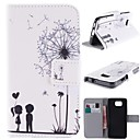 Dandelion Design PU Leather Full Body Case with Stand and Card Slot for Samsung Galaxy Alpha G850