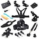 18-in-1 kit d'accessoires pour GoPro hero4 argent héros noir 4 3+ 3 2 de la caméra