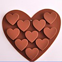 10 Hole Heart Shape Chocolate Molds,Silicone 15.6×14×2.4 CM(6.1×5.5×1.0 INCH)