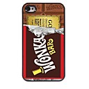 étui rigide chocolat design en aluminium pour iPhone 4 / 4S