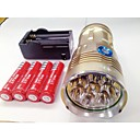 LED taskulamput LED 3 Tila 9600lm Lumenia Vedenkestävä / ladattava / Pimeänäkö Cree XM-L T6 18650Telttailu/Retkely/Luolailu /