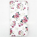 Buy Peony Pattern PU Leather Full Body Case Card Slot Stand iPhone 5C