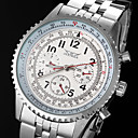 Men's Automatic Mechanical 6 Pointers Silver Steel Band Wrist Watch
