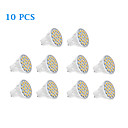 10 pcs GU10 5 W 20 SMD 5050 320 LM Warm White/Cool White Spot Lights AC 220-240 V