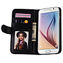 Smooth Pattern PU Leather Wallet Case for Samsung Galaxy S6 ((Assorted Color)